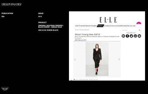 Press Features Gallery - Elle UM-C010X SUEDE BLACK