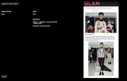 Press Features Gallery - Independents 2014 UM-P005X LEATHER BLACK