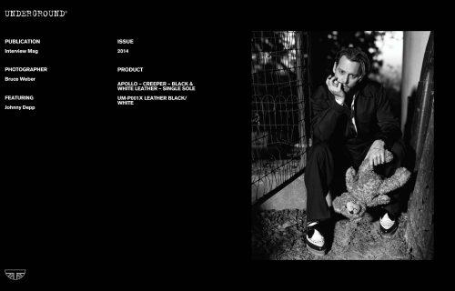 Press Features Gallery - Celebrities Johnny Depp UM-P001X LEATHER BLACK/WHITE