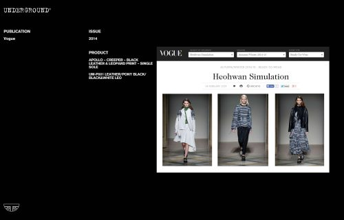 Press Features Gallery - British Vogue UM-P001 LEATHER/PONY BLACK/BLACK&WHITE LEO