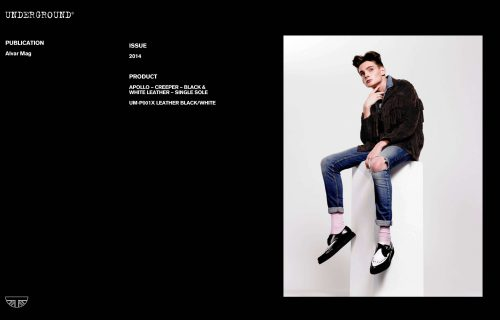 Press Features Gallery - Independents 2014 UM-P001X LEATHER BLACK/WHITE