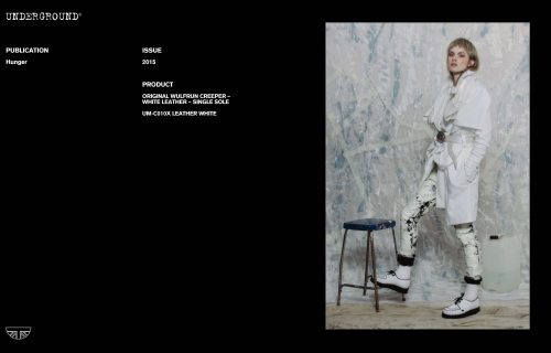 Press Features Gallery - Hunger UM-C010X LEATHER WHITE