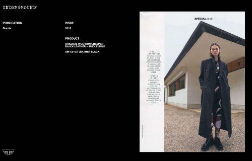 Press Features Gallery - Grazia UM-C010X LEATHER BLACK