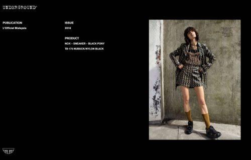 Press Features Gallery -L'Officiel TB-170 NUBUCK/NYLON BLACK