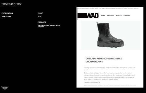 Press Features Gallery - Independents 2016 Underground X Anne Sofie Madsen