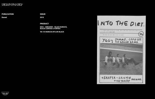 Press Features Gallery - Dazed TB-170 NUBUCK/NYLON BLACK