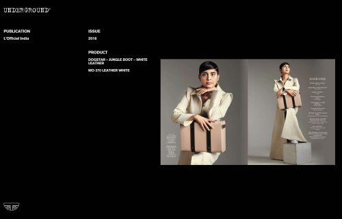 Press Features Gallery -L'Officiel MO-370 LEATHER WHITE