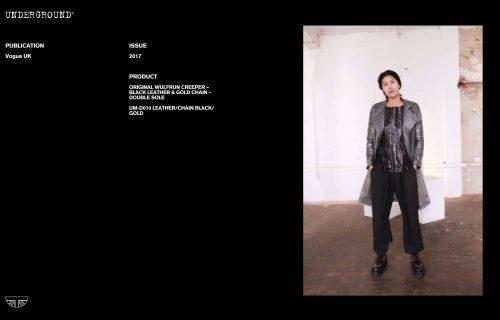Press Features Gallery - British Vogue UM-D010 LEATHER/CHAIN BLACK/GOLD
