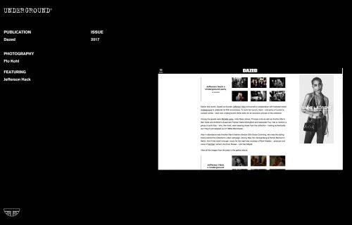 Press Features Gallery - Dazed Jefferson Hack x Underground