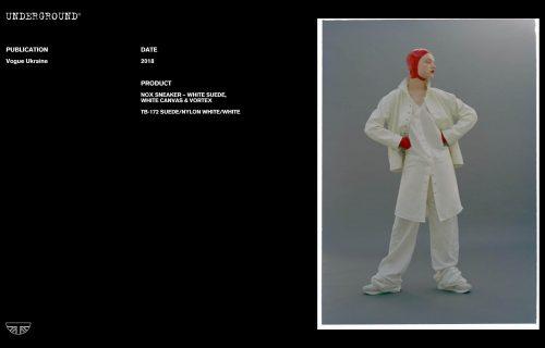 Press Features Gallery - Vogue International TB-172 SUEDE/NYLON WHITE/WHITE