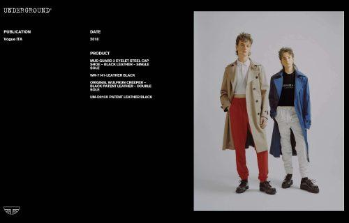 Press Features Gallery - Vogue Italia UM-D010X PATENT LEATHER BLACK