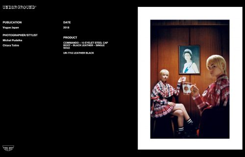 Press Features Gallery - Vogue Japan UR-7703 LEATHER BLACK