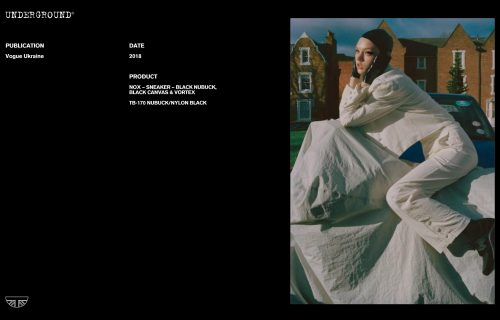 Press Features Gallery - Vogue International TB-170 NUBUCK/NYLON BLACK