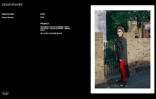Press Features Gallery - Vogue International UR-7120EX LEATHER BLACK