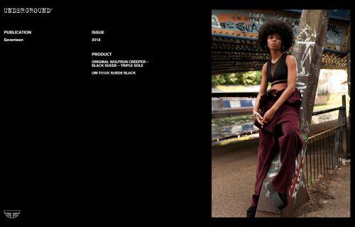 Press Features Gallery - Seventeen UM-T010X SUEDE BLACK