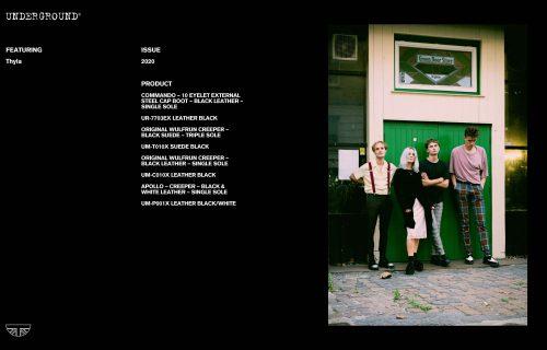 Press Features Gallery - Artists: Thyla UM-T010X SUEDE BLACK UR-7703EX LEATHER BLACK UM-P001X LEATHER BLACK/WHITE