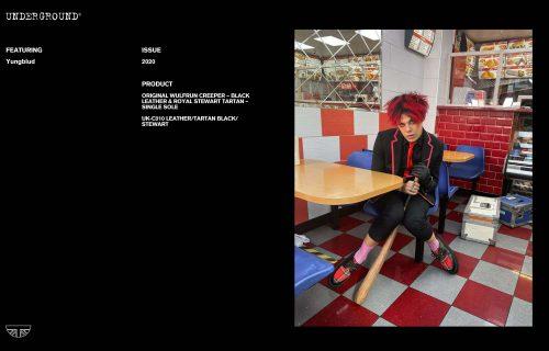 Press Features Gallery - Artists: Yungblud UK-C010 LEATHER/TARTAN BLACK/STEWART