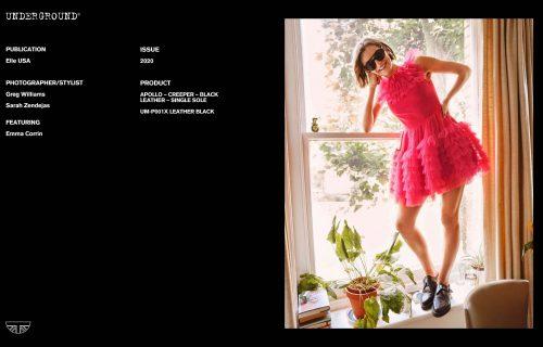 Press Features Gallery - Elle Photographer/Stylist: Greg Williams Sarah Zendejas Model: Emma Corrin