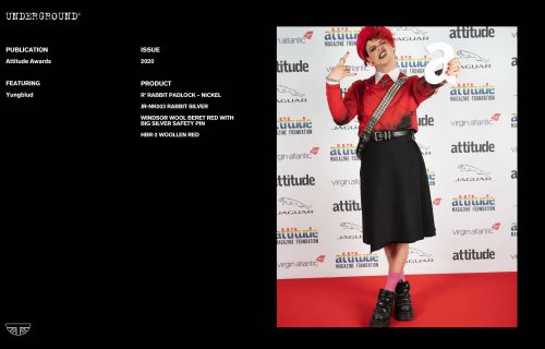 Press Features Gallery - Artists: Yungblud JR-NK003 RABBIT SILVER HBR-2 WOOLLEN RED