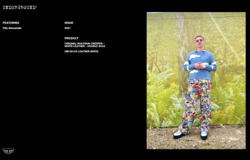 Press Features Gallery - Artists Olly Alexander UM-D010X LEATHER WHITE