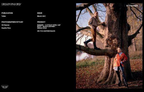 Underground Press Features Gallery - Tatler March 2021 Stylist/Photographer: Oli Kearan Sophie Pera