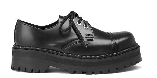 Underground Double Sole Black Leather