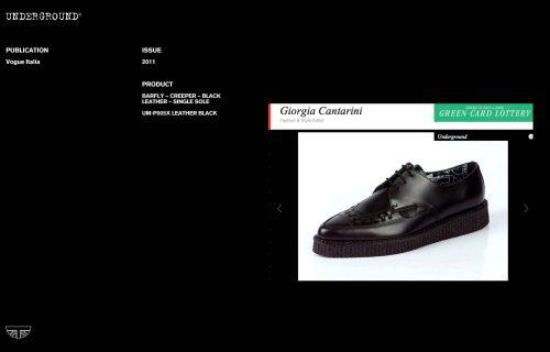 Press Features Gallery - Vogue Italia UM-P005X LEATHER BLACK