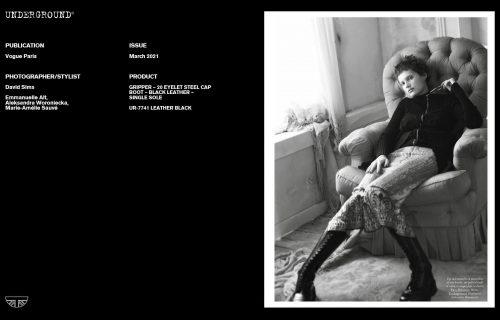 Underground Press Features Gallery -Vogue Paris March 2021 Photographer/Stylist: David Sims, Emmanuelle Alt, Aleksandra Woronlecka, Marie-Amélie Sauvé
