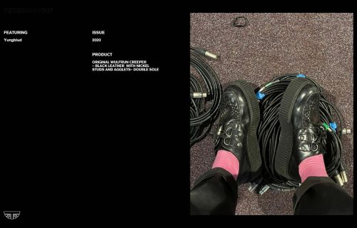 Press Features Gallery - Artists Yungblud Original Wulfrun Creeper Black Leather Double sole