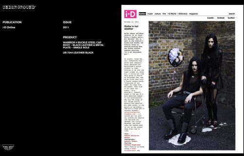 Press Features Gallery - i-D magazine UR-7044 LEATHER BLACK