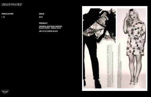 Press Features Gallery i-D magazine UM-C010X SUEDE BLACK