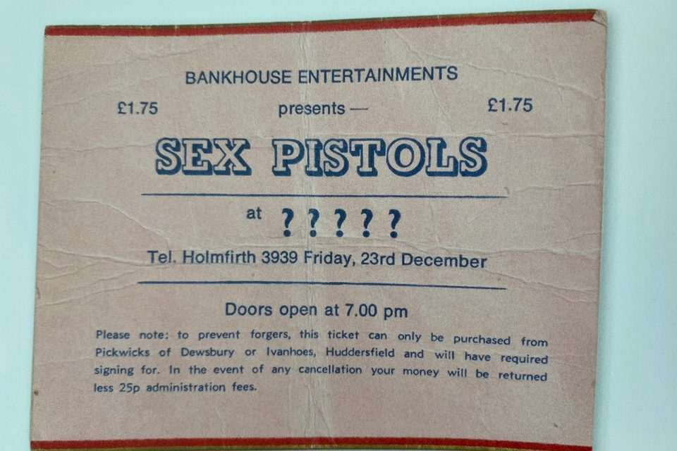 sex pistols the end is near ticket