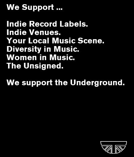 underground England support bands